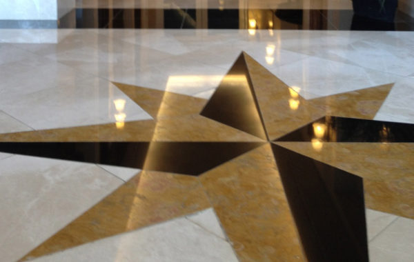 Marble Floor Cleaned and Polished