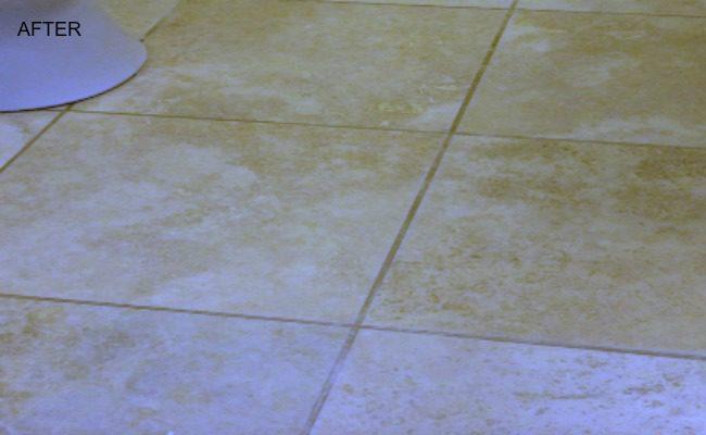 Jerusalem Tile Stained after
