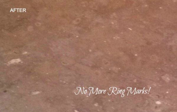 Marble Ring Marks Removed
