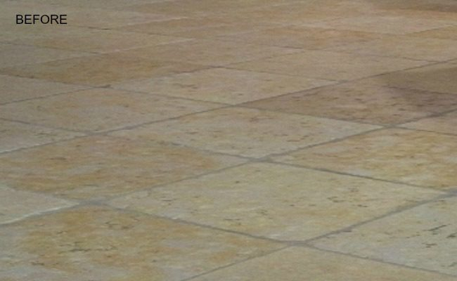 Vienna tumbled travertine before